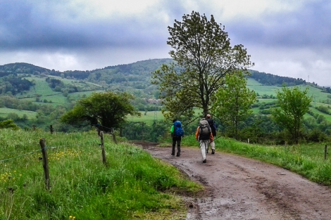 Walking on GR 65 towards Saugues. (Camino de Santiago)