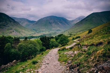 The valley between Great Gable and Scafell Pike.